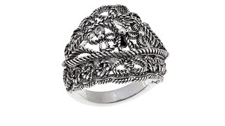 Download Ottoman Silver Jewelry Floral Bead Ring Video
