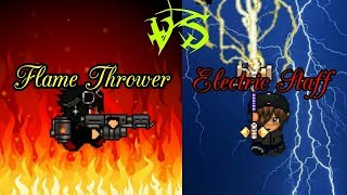 Download Electric Staff VS Flame Thower// Graal era Video