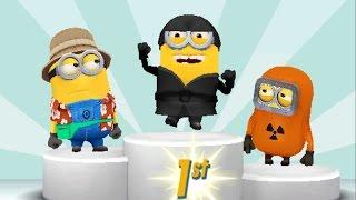 Download Despicable Me 2 Minion Rush Ninja Minion vs Tourist Minion, Baby Minion, Hazmat Minion Video