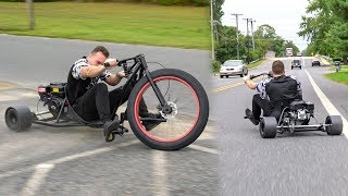 Download I CRASHED.. 50+ MPH MOTORIZED DRIFTING TRICYCLE! (DRIFT TRIKE) Video