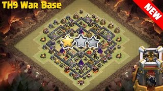 Download 😱😱TH9 War Base with Bomb Tower ♦ Anti Valkyrie, Anti Wiz, Anti Earthquake with Replay Video