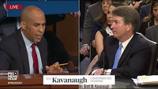 Download Booker asks Kavanaugh if he respects Trump, and if he'd recuse from cases involving the presidency Video