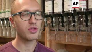 Download Eco-friendly supermarket uses zero plastic packaging Video
