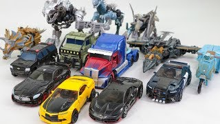 Download Transformers 5 TLK Optimus Prime Bumblebee Megatron Grimlock 13 Dinosaur Dragon Truck Car Robot Toys Video