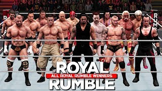 Download All Royal Rumble Winners 1988 To 2017! ( WWE 2K18 ) Video