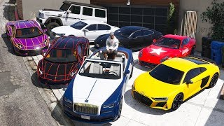 Download GTA 5 - Stealing Luxury Youtubers Cars with Franklin! (Real Life Cars #08) Video
