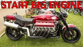 Download Big Engines Motorcycles Starting Up Video