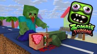 Download Monster School: ZOMBIE TSUNAMI CHALLENGE - Minecraft Animation Video