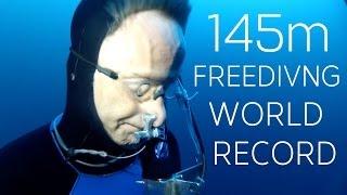 Download William Winram 145m Freediving World Record (VWT) Video