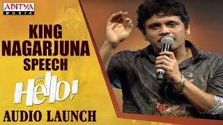 Download King Nagarjuna Extraordinary Speech @ HELLO! Movie Audio Launch Video