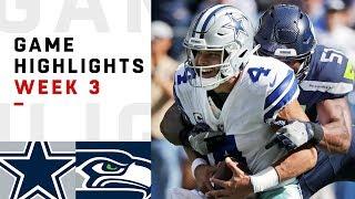 Download Cowboys vs. Seahawks Week 3 Highlights | NFL 2018 Video