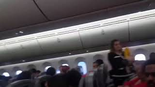 Download Emergency Landing on Norwegian airlines flight DY7019 from Paris to New York Video