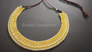 Download Party wear necklace choker / Beautiful Necklace Making Tutorial Video | Srivari Creations Video