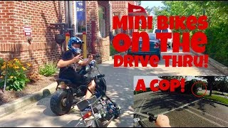 Download Mini Bikes Go Through Drive Thru! | Almost Caught by a Cop! Video