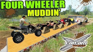 Download FARMING SIMULATOR 2017 | FOUR WHEELER MUDDING COMPETITION + 2ND GEN DODGE CUMMINS TOWING! Video