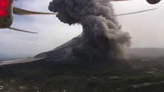 Download Drone Films Erupting Volcano - DJI Phantom Vision+ - Mount Sinabung, Indonesia Video
