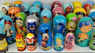 Download LOTS OF NESTING DOLLS with PJ Masks, Paw Patrol, Bubble Guppies, Mickey & Frozen Video