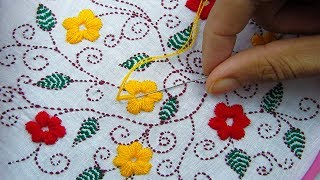 Download Hand Embroidery; Dopatta Embroidery Design/ Phulkari Dopatta/Kantha Stitch Video