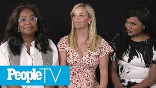 Download Kids Interview 'A Wrinkle In Time' Stars Reese Witherspoon, Oprah Winfrey & Mindy Kaling | PeopleTV Video