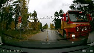 Download Bad Drivers in Sweden #129 Brake checking Tesla driver and invisible car Video