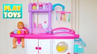 Download Baby Doll Nursery Care Toy Set playing kids fun- change diaper & feed baby doll Video