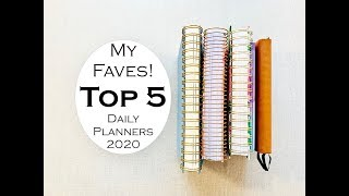 Download My TOP 5 DAILY PLANNERS for 2020! Video