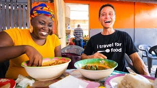 Download Street Food in Ghana - GIANT CHOP-BAR LUNCH and West African Food Tour in Accra! Video
