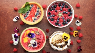 Download 4 Beautiful Smoothie Bowls Video