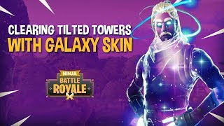 Download Clearing Tilted Towers Featuring GALAXY SKIN!! - Fortnite Battle Royale Gameplay - Ninja & Wildcat Video