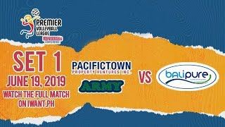 Download LIVE: PacificTown-Army vs. BaliPure | Set 1 | June 19, 2019 #PVL2019 Video