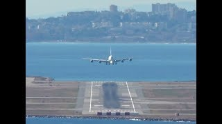 Download Airbus A380 landing at Nice Côte d'Azur Airport Video