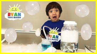 Download DRY ICE BOO BUBBLES Science Experiments for kids to do at home Video