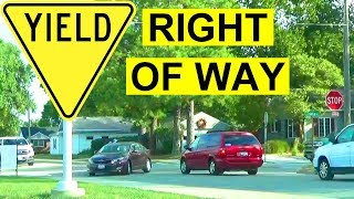 Download How To Yield The Right Of Way: 4-Way Stop Basic Rules & Best Practices For Safe Driving To Pass Test Video