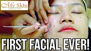 Download FIRST ACNE FACIAL EVER! ♡ MY SKIN ORIGINS | makeupbykarlamisa Video