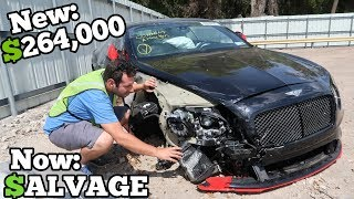 Download A Rare 700HP WRECKED Bentley Showed Up at the Salvage Auction CHEAP! How Much Should I Bid? Video