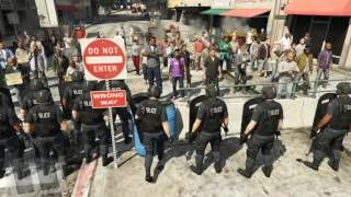 Download GTA V - Protest in front of Police Station (map) Video