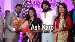 Rocking star Yash and Radhika Pandit During The Wedding