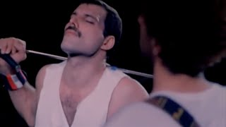 Download Freddie Mercury and his microphone - Show Must Go On Video