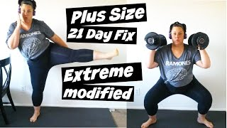 Download Plus Size 21 Day Fix Extreme - Modify - Weightloss Video