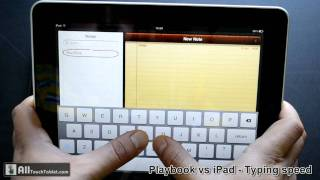 Download 7 inch tablet vs 10 inch tablet typing speed comparison - Blackberry Playbook vs Apple iPad Video