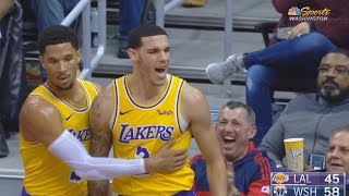 Download Lonzo Ball Gets ANGRY At Ref After John Wall Tackles Him But No Foul Is Called! Lakers vs Wizards Video