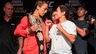 Download Joanna Jedrzeczyk vs. Jessica Andrade UFC 211 Media Day Staredown - MMA Fighting Video