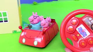 Download Peppa Pig Unboxing: All Toy Vehicles with Fireman George, Camper, Rocket & Ambulance for Kids Video