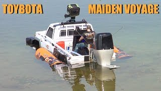 Download RC ADVENTURES - TOYBOTA - BBC TOP GEAR TRUCK BOAT TRiBUTE - Toyota LC70 UTE w/ Oversized Outboard Video