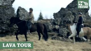 Download Iceland Horseback riding - Lava tour Video