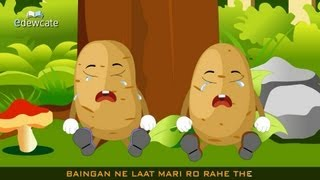 Download Edewcate Hindi Rhymes - Aloo Kachaloo Beta Kahan gaye the Video