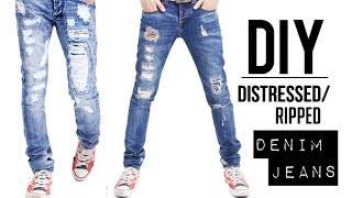 Download HOW TO: DISTRESSED DENIM JEANS (EASY) | DIY TUTORIAL | JAIRWOO Video