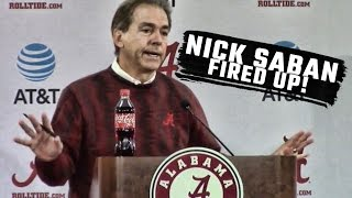 Download Nick Saban blows up over forward looking questions Video