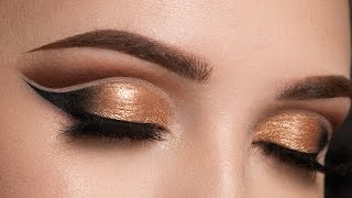 Download Copper Double Cut Crease Makeup Tutorial Video