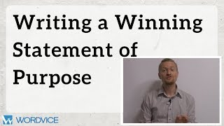 Download How to Write a Winning Statement of Purpose (SOP) Video